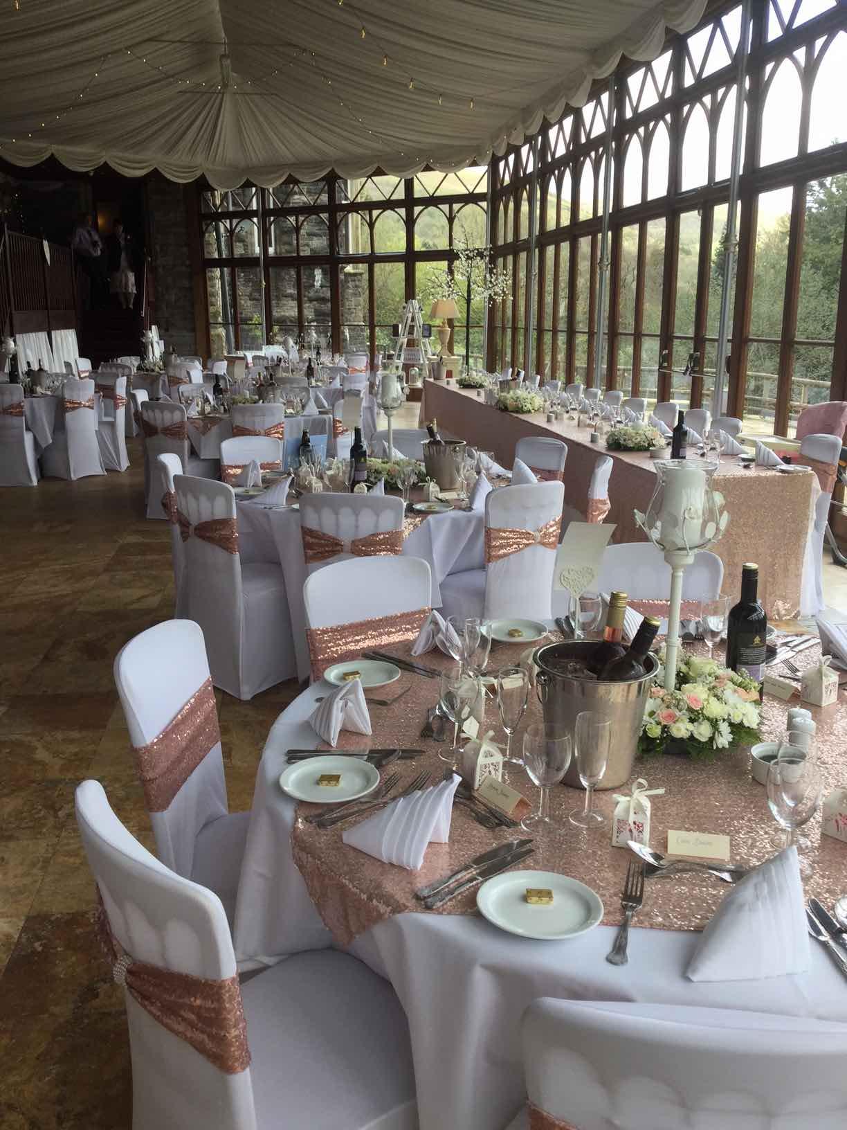 Wedding Breakfast Craig Y Nos Castle South Wales Venue