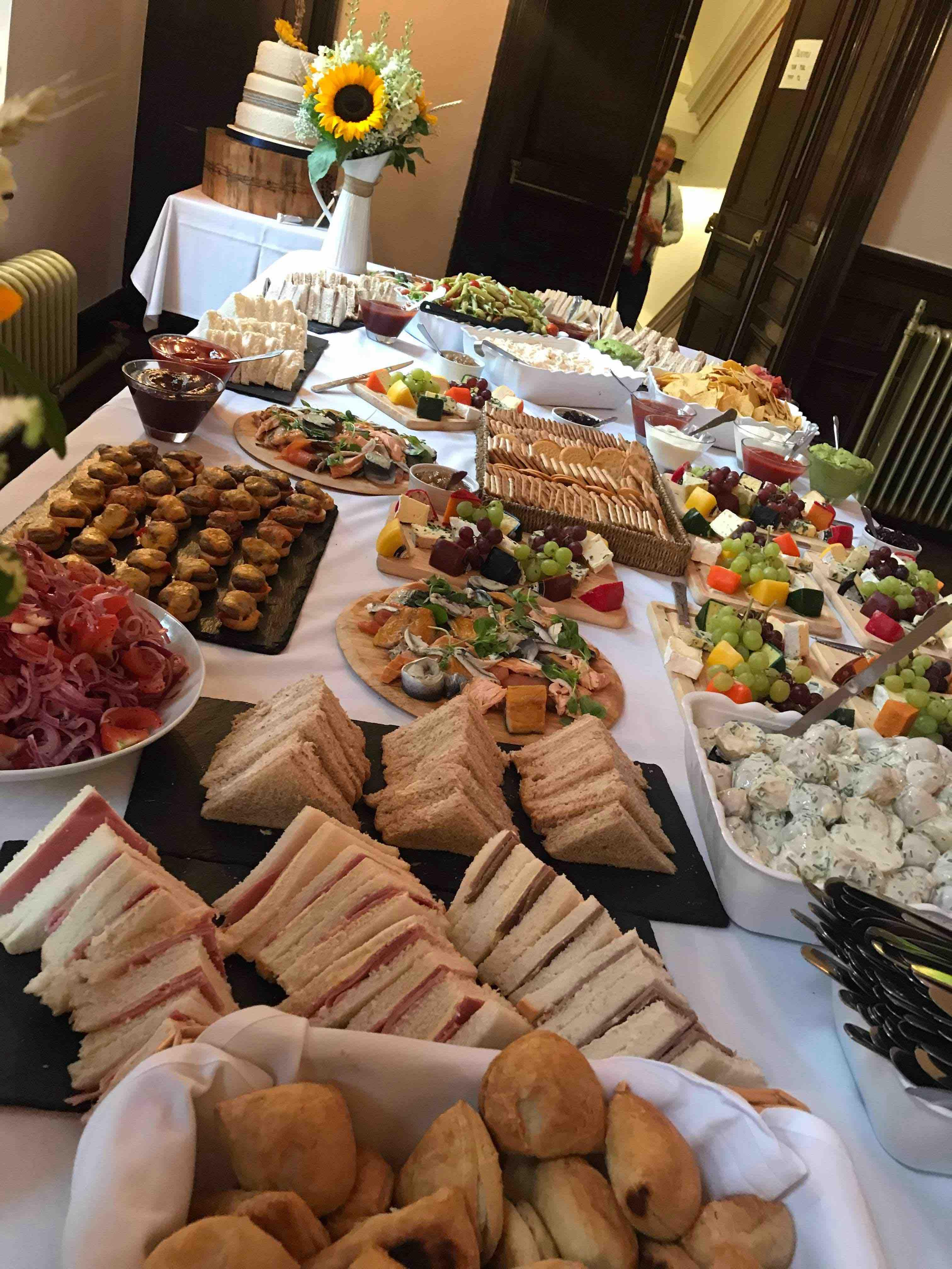 Evening Buffet South Wales Wedding Venue Craig Y Nos Castle