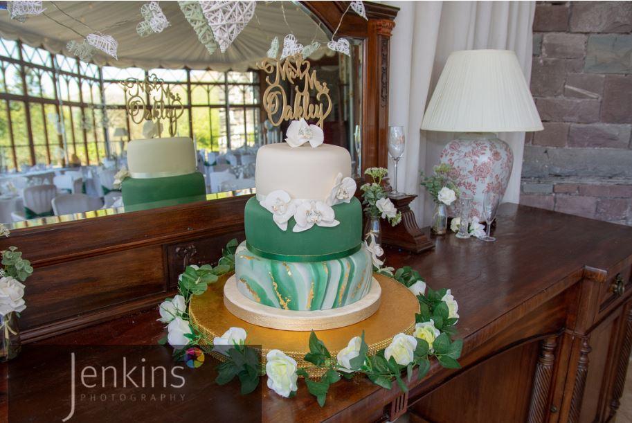 Wedding Venue South Wales Craig Y Nos Castle In Dark Green Wedding