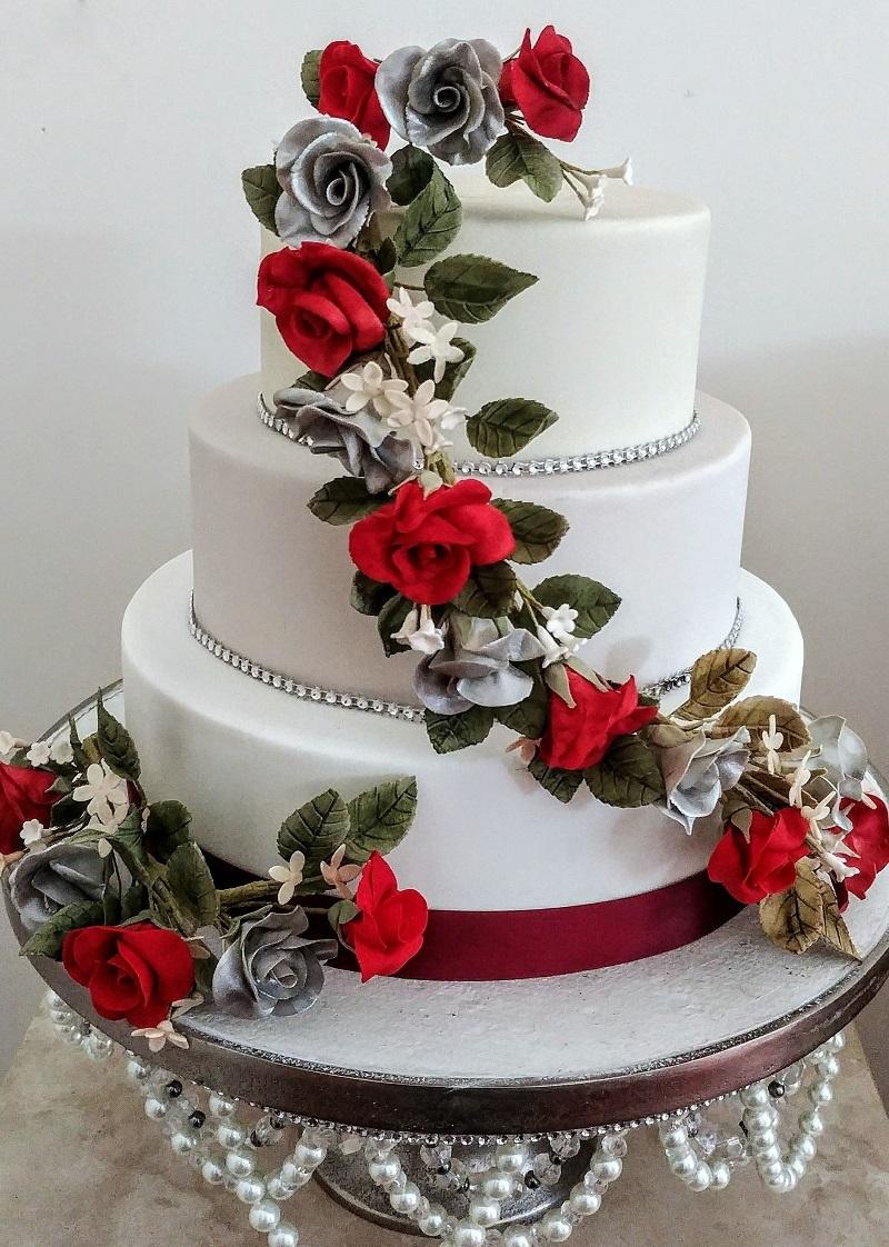 Cake Wedding Cake Weddings In Wales At Craig Y Nos Castle