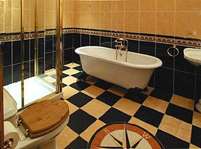 Wedding Venues South Wales - Craig y Nos Castle Accommodation Room 21 Compass Bathroom