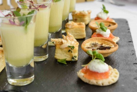 Canapes Choices Craig y Nos Castle Brecon Beacons South Wales Weddings