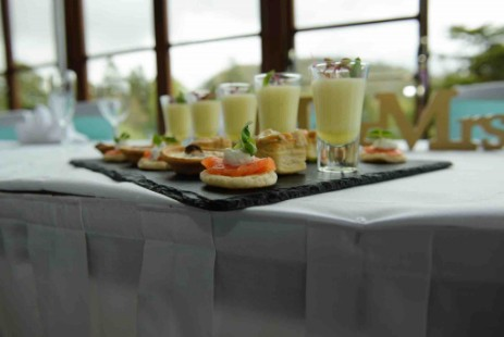 Canapes with Welcome Drinks at Craig y Nos Castle