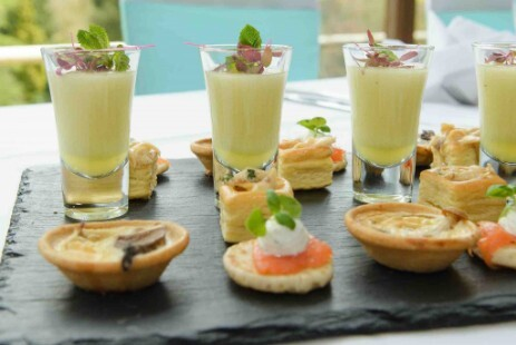 Canapes Choices Craig y Nos Castle Brecon Beacons South Wales