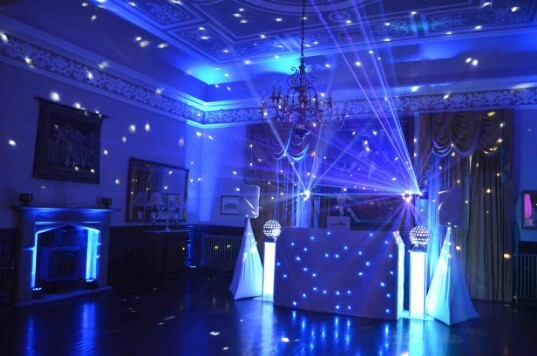 Pure Weddings DJ Blue Uplighting Wedding Venue South Wales Craig y Nos Castle
