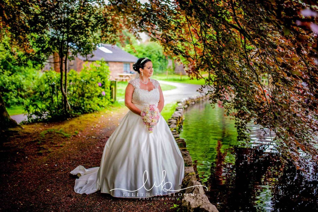 Weddings at Craig y Nos Castle South Wales Wedding Venue Country Park's duck lake