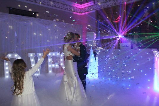 Pure Wedding Confetti throw Wedding Venue South Wales Craig y Nos Castle