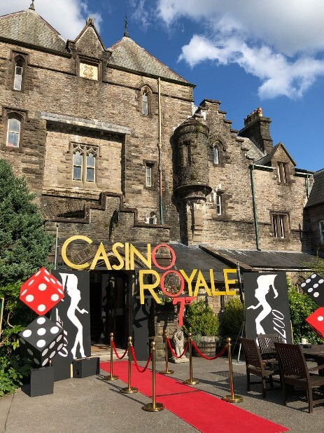 Casino hired and external decor remodelled Craig y Nos as the Casino Royale