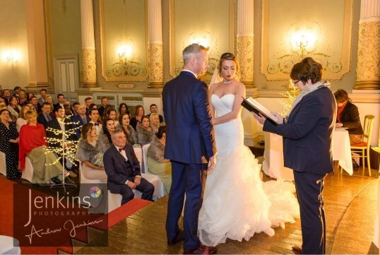 South Wales Castle Wedding Venue Ceremony Rom Craig y Nos
