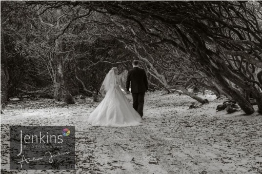 Castle Wedding Venue Wales Craig y Nos County Park Couple in woods