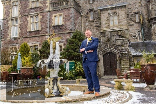 Castle Wedding Venues Wales Courtyard Craig y Nos Castle Entrance