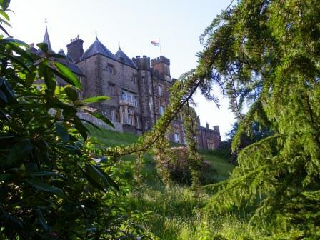 View of Craig y Nos Castle Castle from the lower gardens