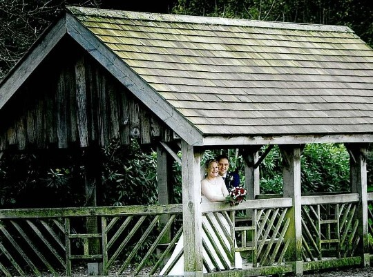 Couple in the boathouse Weddings Venue South Wales Craig y Nos Castle