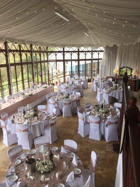 Conservatory at South Wales Wedding Venue Craig y Nos Castle
