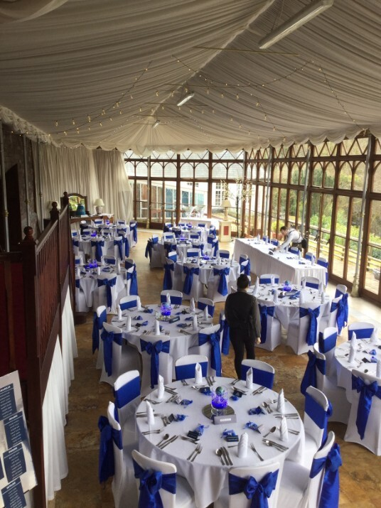 South Wales Wedding Venue Craig y Nos Castle Tables Conservatory