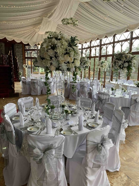 Last Minute Weddings Venue South Wales Craig y Nos Castle Wedding Beakfast room