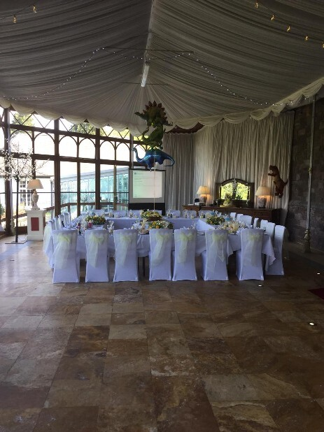 Small wedding reception in Conservatory South Wales Wedding Venue Craig y Nos Castle