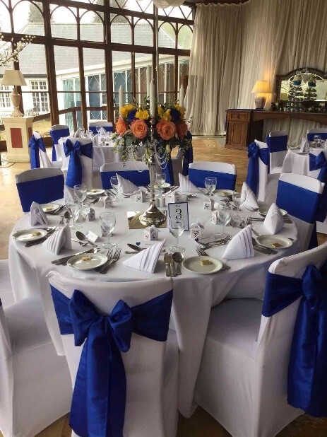 Conservatory Table setting South Wales Wedding Venue Craig y Nos Castle