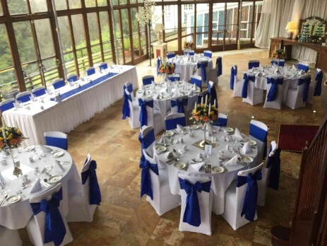 Wedding Breakfast Table Settings South Wales Wedding Venue Craig y Nos Castle