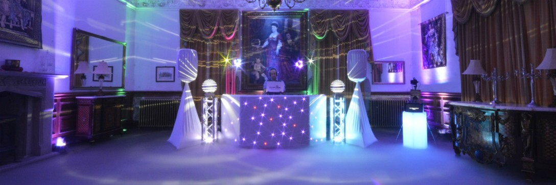 Pure Weddings DJ at Craig y Nos Castle Evening Wedding Party