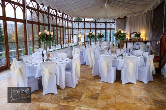 Swansea Wedding Reception Venue Craig y Nos Castle Conservatory