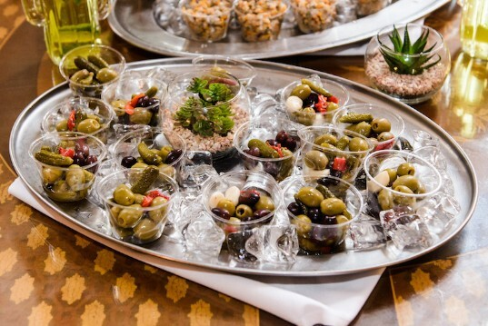 Cockles and Olives served at South Wales Wedding Venue Craig y Nos Castle