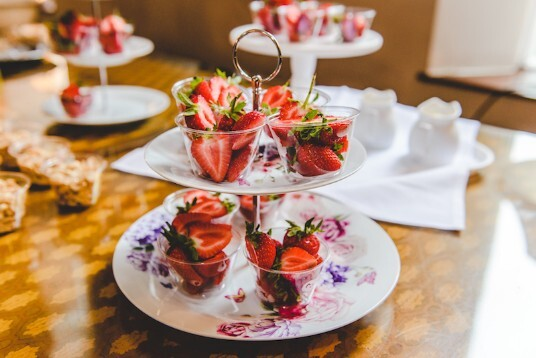 South Wales Wedding Venue Craig y Nos Castle Strawberry Platters