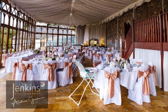 South Wales Wedding Reception room
