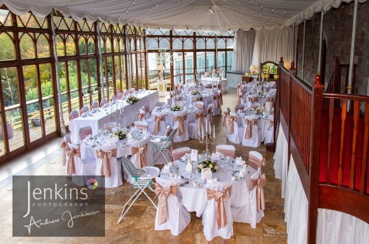 Craig y Nos Castle South Wales Wedding Reception Conservatory
