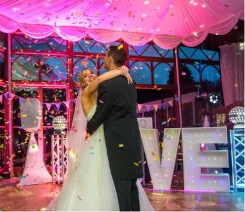 Pure Weddings DJ Evening Entertainment Package - Confetti with Love Letters