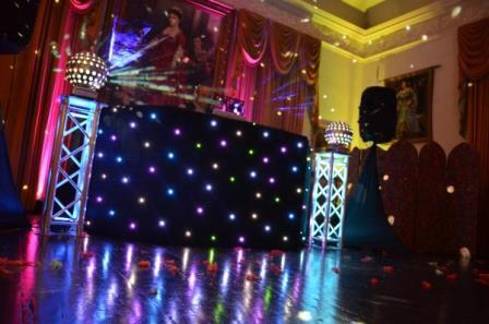 ure Weddings DJ Evening Entertainment Package black speakers and DJ desk