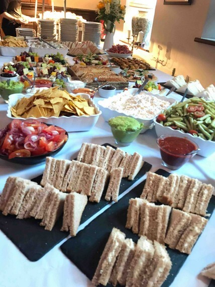 Evening Buffet at Craig y Nos Castle 2018 Wedding Function Room