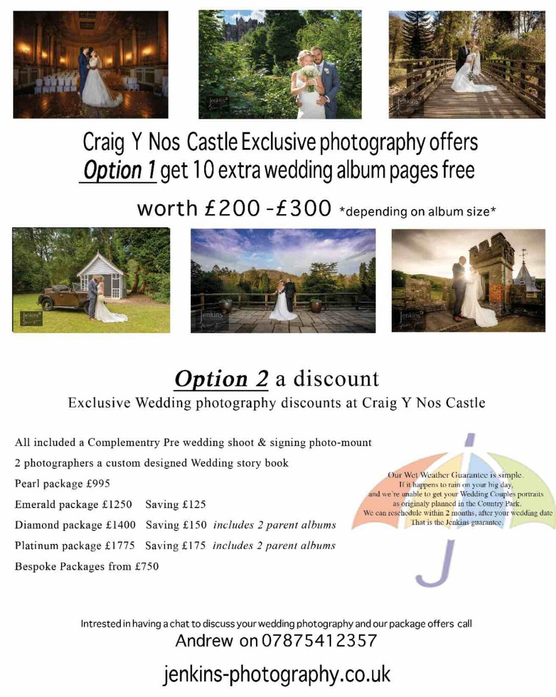 Jenkins Wedding Photography Offer
