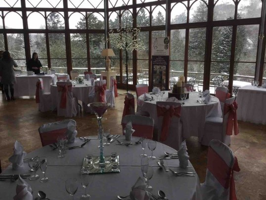 Conservatory at Craig y Nos Castle on Open Day in March 2018