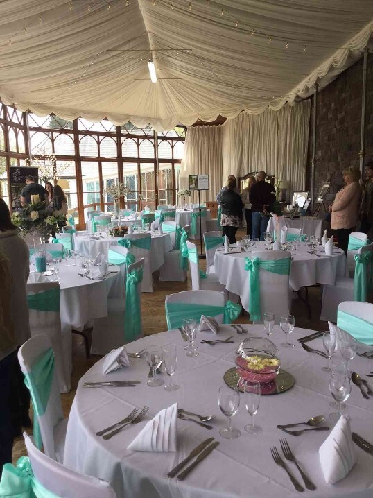 Craig y Nos Castle Conservatory Table Settings on Open Day April 2018