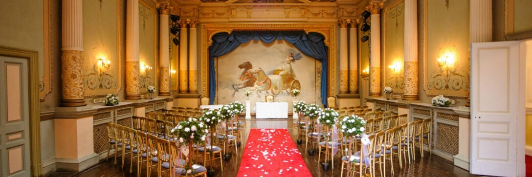 Theatre at Craig y Nos Caste as Wedding Ceremony Room