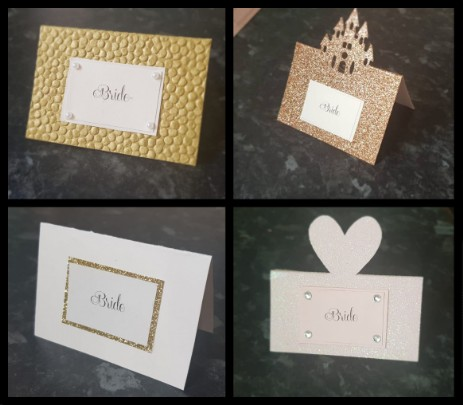 Cupcakes and Keepsakes - place settings cards