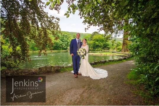 The Boating Lake at Craig y Nos Castle Wedding Venue in Wales