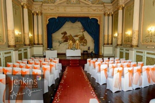 South Wales Wedding Venue Ceremony Room Craig y Nos Castle