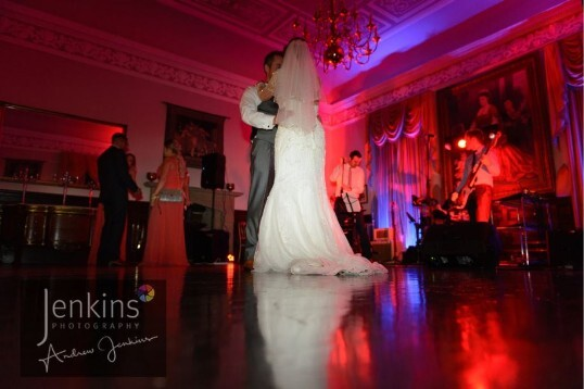 Last Minute Weddings Venue South Wales Craig y Nos Castle dancing on clouds' bridal couple