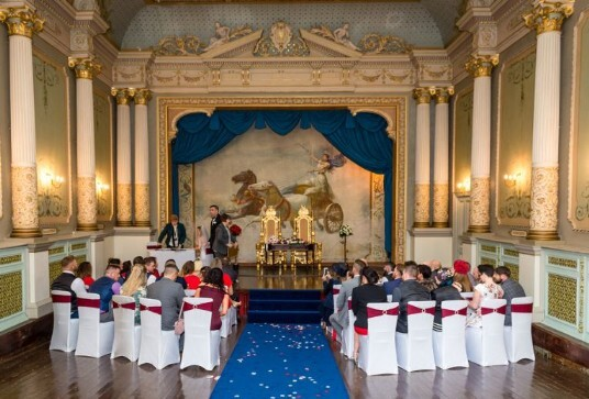 Wedding Ceremony Venue Swansea Craig y Nos Castle Opera House