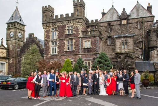 Wedding Ceremony Venue Swansea Craig y Nos Castle Courtyard