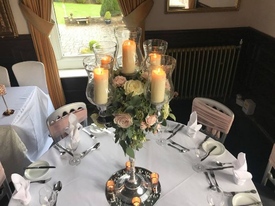 Craig y Nos Castle Table Centrepiece on Open Day January 2019