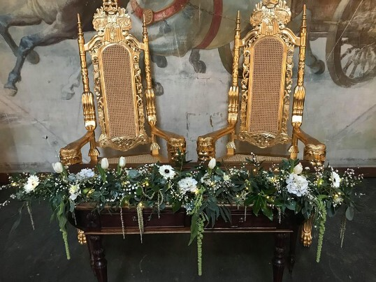 Craig y Nos Castle Ceremony Thrones on Open Day January 2019