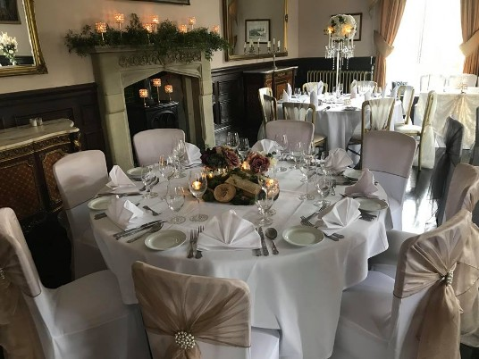 Craig y Nos Castle Music Room Wedding Tables on Open Day January 2019