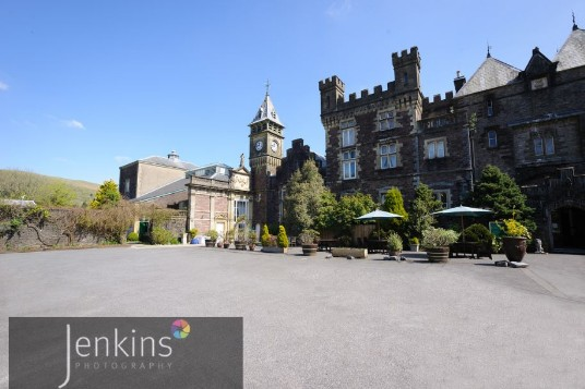 Wedding Venues South Wales Craig y Nos Castle Courtyard