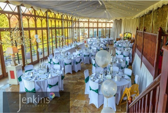 Wedding Venues South Wales Craig y Nos Castle Consevatory Green Chairs