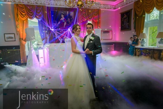Wedding Venues South Wales First dance on Clouds at Craig y Nos Castle