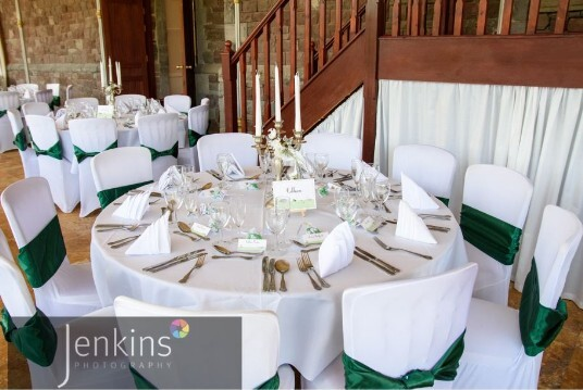 Wedding Venues South Wales Craig y Nos Castle Green Chairs in Conservatory
