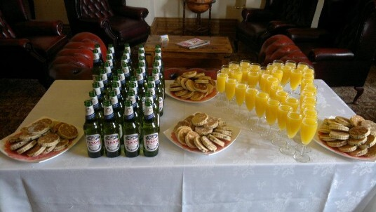 Welcome Drinks with Welsh Cakes in the Nicolini Lounge at Craig y Nos Castle